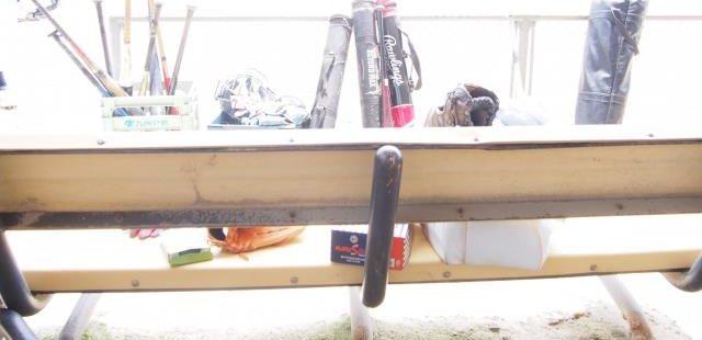 高校野球のベンチ裏