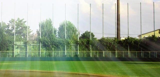 高校野球グランドの日差し