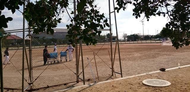 高校野球の練習風景
