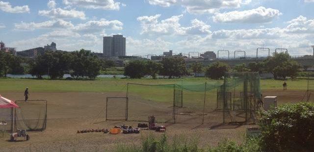 高校野球の練習場